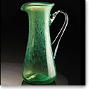 Cashs Ireland, Art Glass Forty Shades of Green, Large Pitcher
