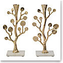 Michael Aram Botanical Leaf Gold Candleholders Pair