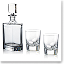 Rogaska Manhattan Set, Whiskey Decanter with DOF Glasses Pair