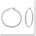 Swarovski Crystal and Rhodium Somerset Hoop Pierced Earrings