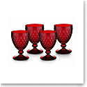 Villeroy and Boch Boston Colored Claret Red Set of 4