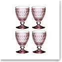 Villeroy and Boch Boston Colored Red Wine Set of 4 Rose