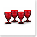 Villeroy and Boch Boston Colored Goblet Red Set of 4
