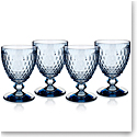 Villeroy and Boch Boston Colored Claret Blue Set of 4