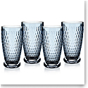 Villeroy and Boch Boston Colored Highball Blue Set of 4