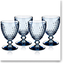 Villeroy and Boch Boston Colored Goblet Blue Set of 4