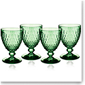 Villeroy and Boch Boston Colored Claret Green Set of 4