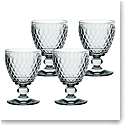 Villeroy and Boch Boston Colored Claret Smoke Set of 4