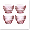 Villeroy and Boch Boston Colored Individual Bowl Set of 4 Rose