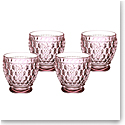 Villeroy and Boch Boston Colored Shot Glass Set of 4 Rose