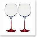 Villeroy and Boch Allegorie Premium Rose Burgundy, Grand Cru Pair