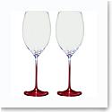 Villeroy and Boch Allegorie Premium Rose Bordeaux Pair