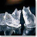 Lalique Crystal, Figure Heggie Cat Sculpture