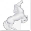 Lalique Rearing Kazak Horse Sculpture Clear