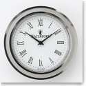 Waterford Sterling Silver, Tone Crystal Clock Face Insert, Large 2 3/4""