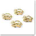 Michael Aram Mistletoe Napkin Ring Set Set of 4
