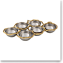 Michael Aram Wisteria Gold 6 Compartment Plate