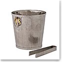 Michael Aram Ivy and Oak Bucket with Tongs