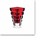 "Rogaska Crystal, Adria Red 10"" Crystal Vase"