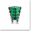 "Rogaska Crystal, Adria Green 10"" Crystal Vase"