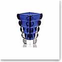 """Rogaska Crystal, Adria Blue 10"""" Crystal Vase"""