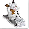 Michael Aram 2018 Sledding Teddy Ornament