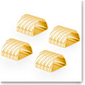 Michael Aram Twist Napkin Ring Set of 4 - Goldtone