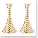 "Michael Aram Gold Twist 8.5"" Candleholders Pair"