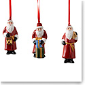 Villeroy and Boch 2020 Nostalgic Santa Claus Ornaments Set of Three