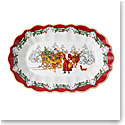 Villeroy and Boch Toy's Fantasy Large Oval Bowl Santa with Sleigh