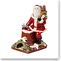 "Villeroy and Boch Christmas Toys Musical Figurine ""Santa Claus is Coming to Town"""