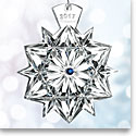 Waterford Crystal, Snowflake Wishes Friendship Crystal Ornament 2017, Cobalt Jewels