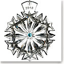 Waterford Crystal, Snowflake Wishes Happiness 2018 Crystal Ornament, Aqua Jewels