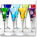 Waterford Snowflake Wishes 2011-2020 Prestige Color Cased Flutes, Set of Ten