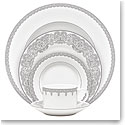 Waterford China Lismore Lace Platinum, 5 Piece Place Setting