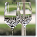 Cashs Ireland, Blarney City White Wine Glass, Pair