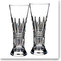 Waterford Crystal, Lismore Diamond Crystal Pilsner, Pair