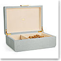 Aerin Modern Shagreen Large Jewelry Box, Mist