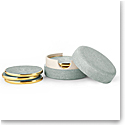 Aerin Shagreen Coasters, Mist Set of Four