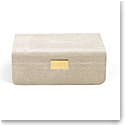 Aerin Modern Shagreen Large Jewelry Box, Wheat