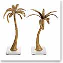 Michael Aram Palm Candleholders, Mixed Pair