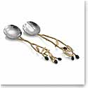 Michael Aram Olive Branch Gold Serving Set