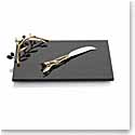 Michael Aram Olive Branch Gold Cheeseboard with Knife