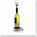 Michael Aram Olive Branch Gold Wine Coaster and Stopper Set