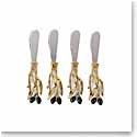Michael Aram Olive Branch Gold Cheese Spreader Knives, Set of 4