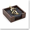 Michael Aram Olive Branch Gold Cocktail Napkin Box