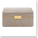 Aerin Beauvais Suede Jewelry Box, Dune