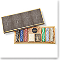 Aerin Shagreen Poker Set, Chocolate