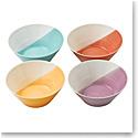 "Royal Doulton 1815 Mixed Patterns Noodle Bowl 8.3"" Set of 4 Bright Colors"