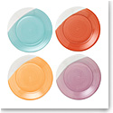 """Royal Doulton 1815 Mixed Patterns Dinner Plate 11.4"""" Set of 4 Bright Colors"""